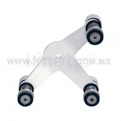 ALUMINUM INTERIOR SPIDER FITTING 128MM 3 WAY WITH FLAT HEAD