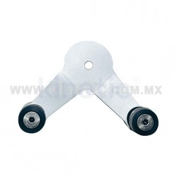 ALUMINUM INTERIOR SPIDER FITTING 128MM 2 WAY WITH FLAT HEAD