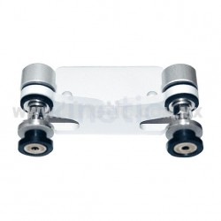 ALUMINUM INTERIOR SPIDER FITTING 128MM 2 WAY FOR FIN MOUNT WITH FLAT HEAD