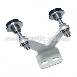 ALUMINUM INTERIOR FIN SPIDER FITTING 128MM 2 WAY WITH 1/2