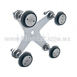 ALUMINUM INTERIOR SPIDER FITTING 128MM 4 WAY WITH 1/2