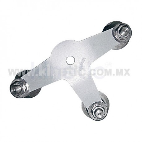 ALUMINUM INTERIOR SPIDER FITTING 128MM 3 WAY WITH 1/2