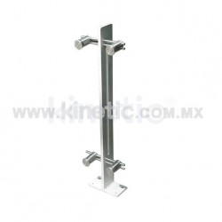 ALUMINUM HANDRAIL 850MM WITH OPENING AND DOUBLE ADJUSTABLE STAINLESS STEEL SUPPORT (CENTER)