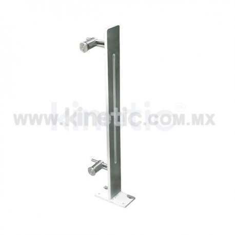 ALUMINUM HANDRAIL 850MM WITH OPENING AND SINGLE ADJUSTABLE STAINLESS STEEL SUPPORT (LEFT)