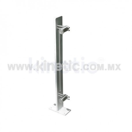ALUMINUM HANDRAIL 850MM WITH OPENING AND SINGLE ADJUSTABLE STAINLESS STEEL SUPPORT (RIGHT)