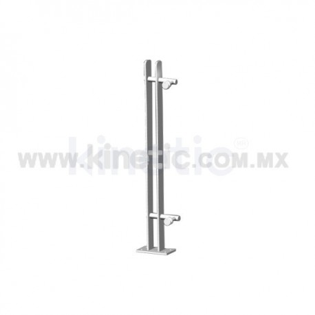 ALUMINUM HANDRAIL 750MM WITH STAINLESS STEEL ANGLE SUPPORT, SINGLE