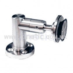 STAINLESS STEEL SUPPORT ANGLE WITH 1/2 ROUTULE, STIFFNER AND BASE