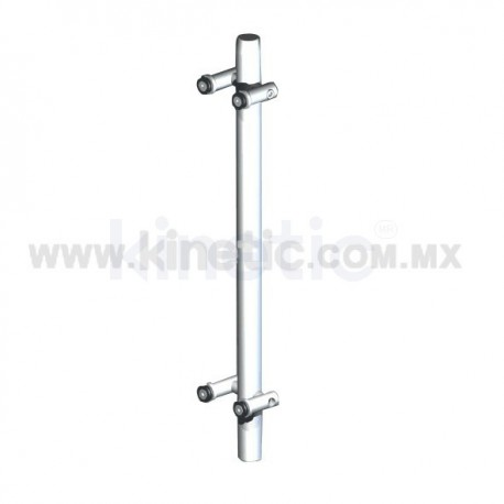 BASTONCILLO ACERO INOXIDABLE 41 x 750 MM CON SOPORTE EN ANGULO DOBLE