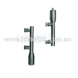 STAINLESS STEEL PIVOT POLE TO FLOOR & CEILING 2 PIECES WITH BUTTON HEAD (GERMAN DORMA)