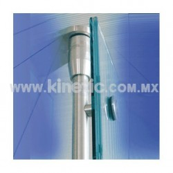 STAINLESS STEEL PIVOT POLE TO FLOOR & CEILING 2.10 M. WITH BUTTON HEAD (GERMAN DORMA)