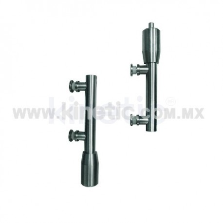 STAINLESS STEEL PIVOT POLE 2 PIECES TO FLOOR & CEILING WITH BUTTON HEAD (SPEEDY)
