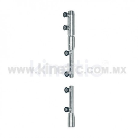 STAINLESS STEEL PIVOT POLE 2 PIECES TO LINTEL (GERMAN DORMA)