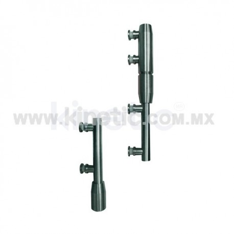 STAINLESS STEEL PIVOT POLE 2 PIECES TO LINTEL WITH BUTTON HEAD (GERMAN DORMA)
