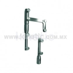 STAINLESS STEEL PIVOT POLE 2 PIECES TO LINTEL WITH BUTTON HEAD AND SIDE PLATE (RYOBI)