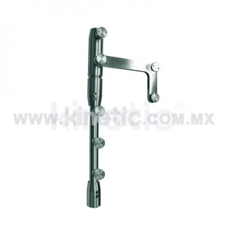 STAINLESS STEEL PIVOT POLE TO LINTEL 2.10 M WITH BUTTON HEAD AND SIDE PLATE (MAB)