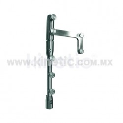 STAINLESS STEEL PIVOT POLE TO LINTEL 2.10 M WITH BUTTON HEAD AND SIDE PLATE (GERMAN DORMA)
