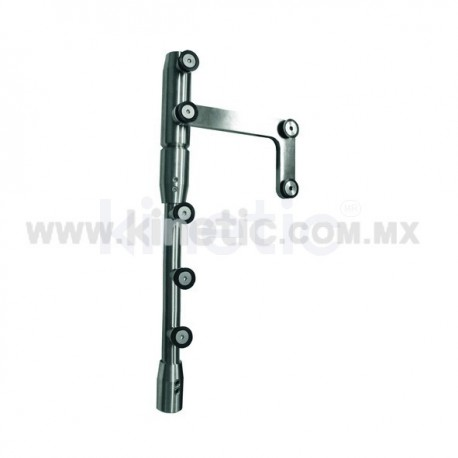 STAINLESS STEEL PIVOT POLE TO LINTEL 2.10 M WITH SIDE PLATE (GERMAN DORMA)