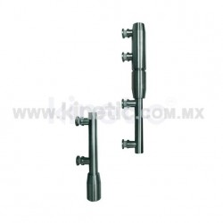 STAINLESS STEEL PIVOT POLE 2 PIECES TO LINTEL WITH BUTTON HEAD (MAB)