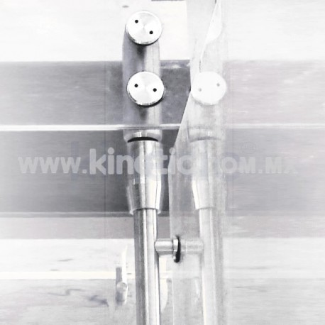 STAINLESS STEEL PIVOT POLE TO LINTEL 2.10 M. WITH BUTTON HEAD (MAB)