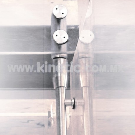 STAINLESS STEEL PIVOT POLE TO LINTEL 2.10 M. WITH BUTTON HEAD (SPEEDY)