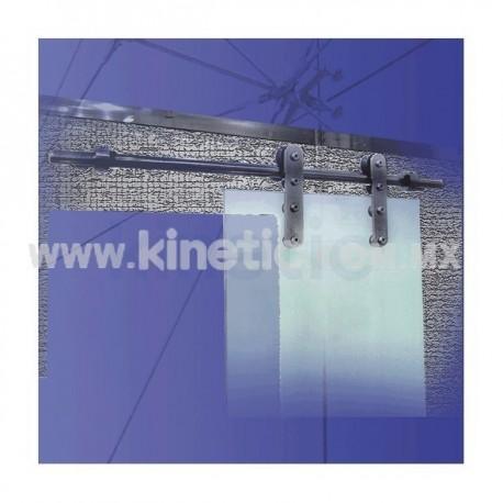 POINT-FIXED SLIDING DOOR CONNECTORS KIT 1710 MM TO FLOOR & CEILING