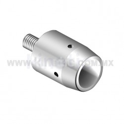 STAINLESS STEEL WALL MOUNT CONNECTOR FOR SLIDING DOOR RAIL