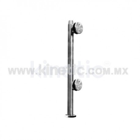 STAINLESS STEEL POST WITH CLAMP 41 x 750 MM AND 9.5 MM BASE