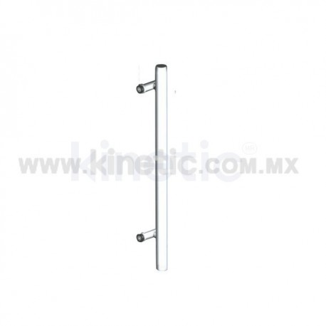 STAINLESS STEEL POST 41 X 750 MM WITH SINGLE STAINLESS STEEL ANGLE SUPPORT