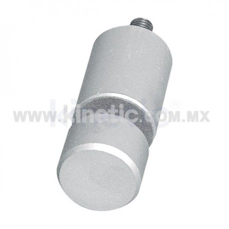 ALUMINUM GLASS STANDOFF 32 X 44 MM WITH BUTTON END